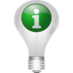 Light bulb with info icon