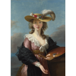 Self portrait in a Straw Hat by Elisabeth Louise Vigee Lebrun
