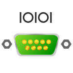 Serial port icon vector image