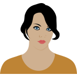 Serious woman profile vector image