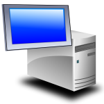Terminal server icon vector image
