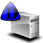 Domain server icon vector image