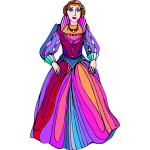 Princess in colorful dress