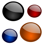 Vector image of set of four color balls