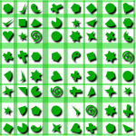 Shapes pattern in green color