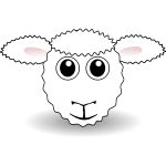 Funny sheep face vector image