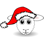 Funny Sheep Face Vector