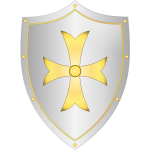 Classic medieval shield vector drawing