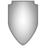 Vector drawing of blank silver shield