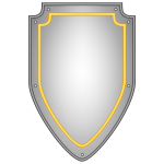 Vector illustration of blank metal shield