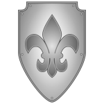 Vector graphics of grayscale shield
