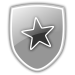 Shield with star icon vector clip art