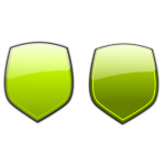 Green shields vector illustration