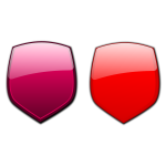Crimson and red shields vector illustration