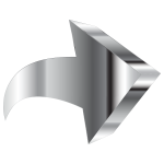 Shiny Chrome 3D Arrow