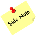 Side note vector image