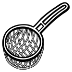 Vector image of spotty strainer