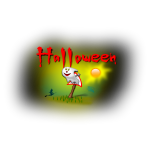 Halloween signpost vector illustration