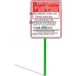 Sign No Dumping