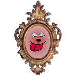 Silly Face Ornate Frame