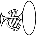 Vector image of a simple trumpet