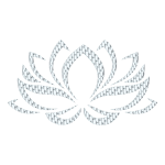 Silver Lotus Flower No Background