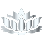 Silver Lotus Flower Silhouette No Background