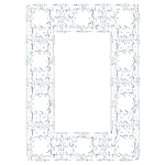 Silver Ornate Geometric Frame No Background