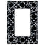 Silver Ornate Geometric Frame