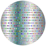 Silver Polka Dots Sphere