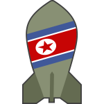 Vector graphics of hypothetical North Korean nuclear bomb