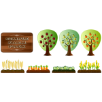 Vector image of simple farm crops pack