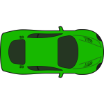 Green racing car vector illustration