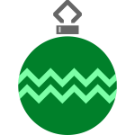 Simple green tree bauble