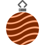 Brown spiky bauble