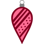 Red spiky bauble