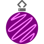 Purple and pink bauble