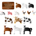 Simple Farm Animals Vector