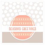 Christmas ornament greeting card vector image