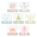 Selection of different greeting cards vector image