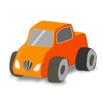 Simple toy car truck vector image