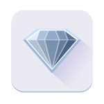 Single blue diamond icon vector image