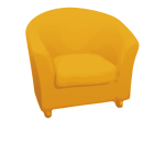 Single yellow sofa