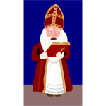 Sinterklaas reading from Bible vector image
