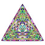 Triangle with abstract pattern