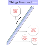 Vector clip art of measuring ruler with explanations