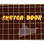 Vector graphics of sketch book cover