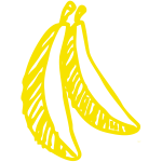 Sketched bananas