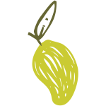 Sketched pear