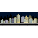 Skyscraper Night Scene